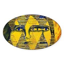 Conundrum II Abstract Golden Goddes Decal