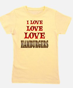 Love Love Hamburgers Girl's Tee