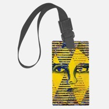 Conundrum II Abstract Golden God Luggage Tag