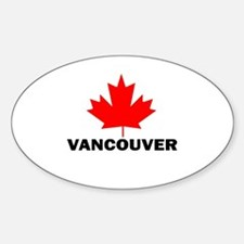 Vancouver, British Columbia Oval Bumper Stickers