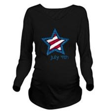 July 4th Long Sleeve Maternity T-Shirt