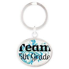 Team 5th Grade Oval Keychain