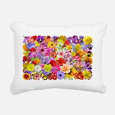 Eileens Multifloral long Rectangular Canvas Pillow