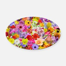 Eileens Multifloral long Oval Car Magnet
