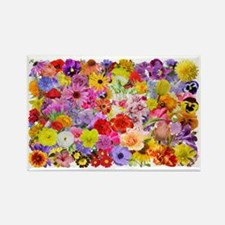 Eileens Multifloral long Rectangle Magnet