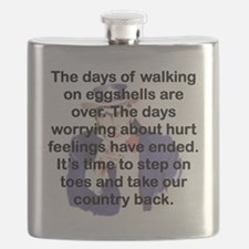 THE DAYS OF WALKING ON EGGSHELLS Flask