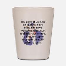 THE DAYS OF WALKING ON EGGSHELLS Shot Glass