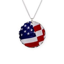 U.S. Flag ft mk Necklace