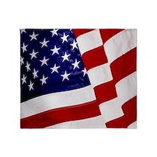 U.S. Flag ft mk Throw Blanket
