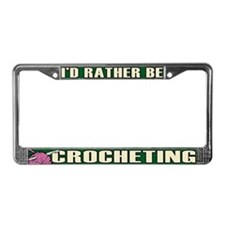 Crochet License Plate Frame