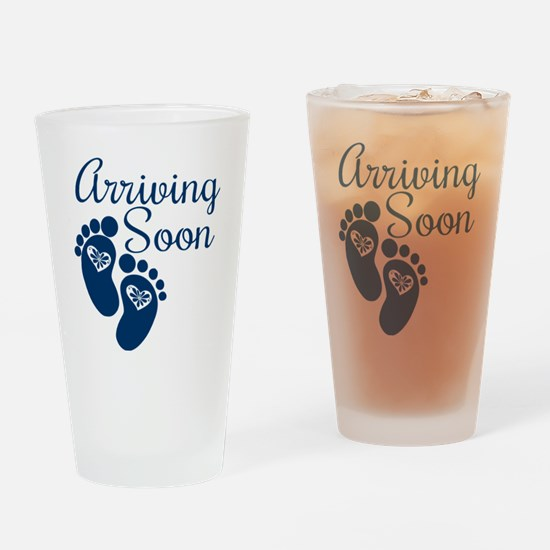 Arriving Soon Drinking Glass