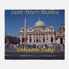 VaticanCity_10X8_puzzle_StPetersBasi Throw Blanket