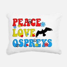 PEACE LOVE OSPREYS Rectangular Canvas Pillow