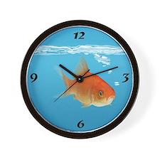 Fish In Blue Wall Clock