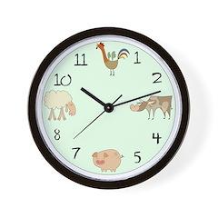 Farm Animals Wall Clock