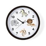 Zoo Animals 1 Wall Clock