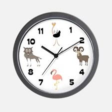 Zoo Animals 2 Wall Clock