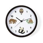 Zoo Animals 3 Wall Clock