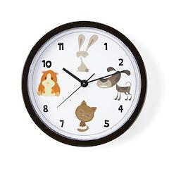 Pets Wall Clock