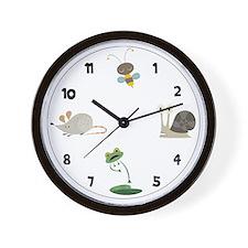 Backyard Friends Wall Clock