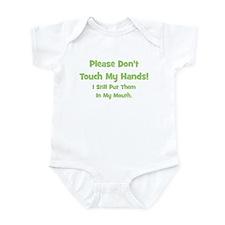 Please Don't Touch My Hands! Infant Bodysuit
