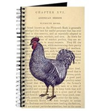 Vintage Plymouth Rock Rooster Journal