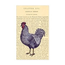 Vintage Plymouth Rock Rooster Decal