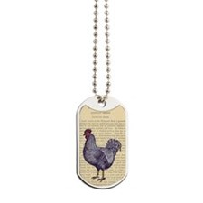 Vintage Plymouth Rock Rooster Dog Tags