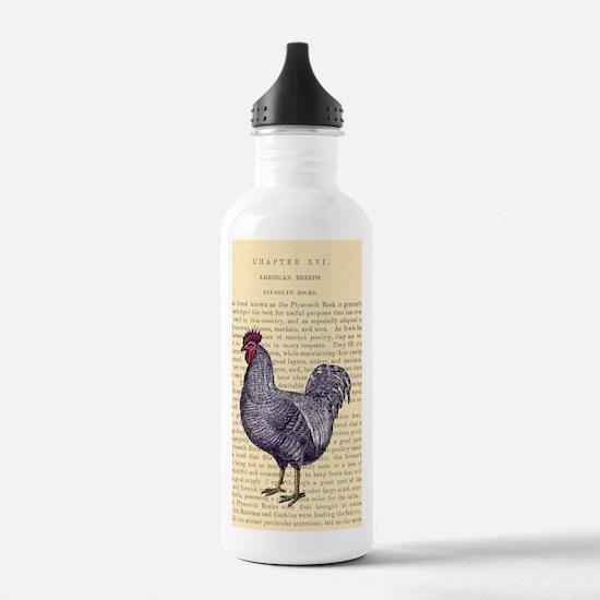 Vintage Plymouth Rock  Water Bottle