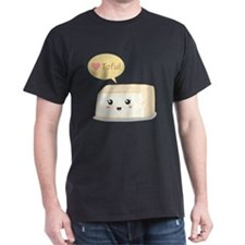 Kawaii tofu asking people to love tof T-Shirt