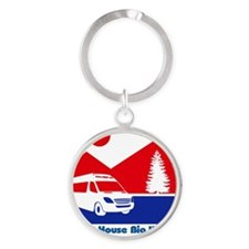 Small House Big Yard RV T-Shirt Round Keychain