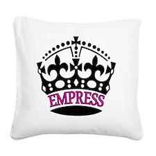 EMPRESS Pink Square Canvas Pillow