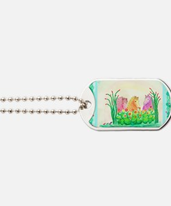Curlies in Cactus with Borders Dog Tags