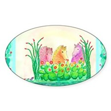 Curlies in Cactus with Borders Decal