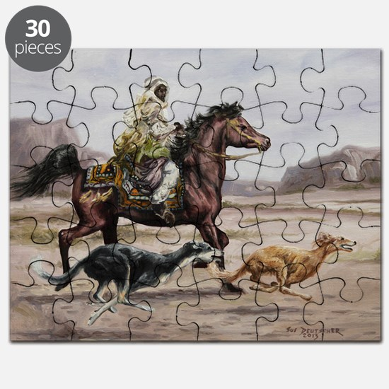Bedouin Riding with Saluki Hounds Puzzle