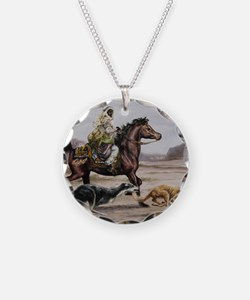 Bedouin Riding with Saluki H Necklace