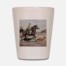 Bedouin Riding with Saluki Hounds Shot Glass