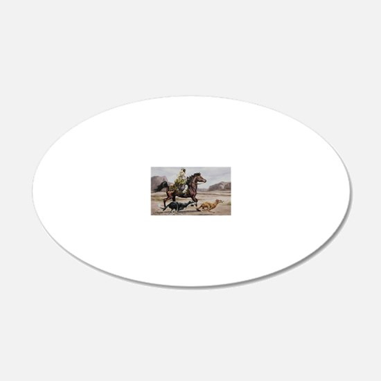 Bedouin Riding with Saluki H Wall Decal