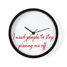 Anger Management Wall Clock