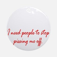 Anger Management Round Ornament