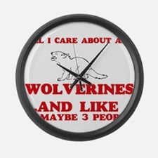All I care about are Wolverines Large Wall Clock