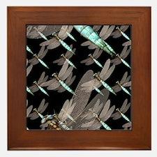 Dragonfly Air Force on Black Framed Tile