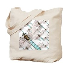 Dragonfly Air Force on White Tote Bag