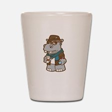 Hipsterpotamus Shot Glass