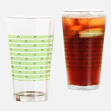 Green Owls Pattern Drinking Glass