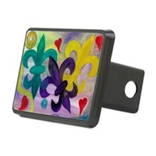 Mardi Gras Fleur de lis Rectangular Hitch Cover