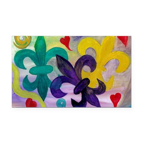 Mardi Gras Fleur de lis Rectangle Car Magnet