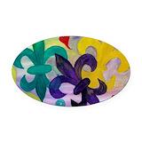 Fleur de lis Oval Car Magnets