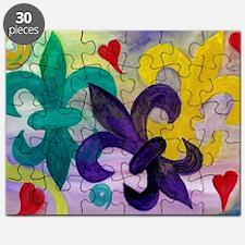 Mardi Gras Fleur de lis Puzzle