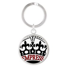 EMPRESS Red Round Keychain